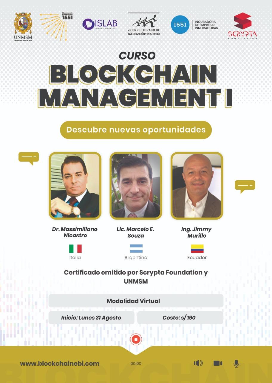 Curso Blockchain Managment